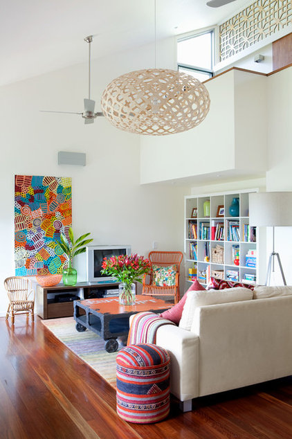 Contemporary Family Room by Sally Carson Interiors