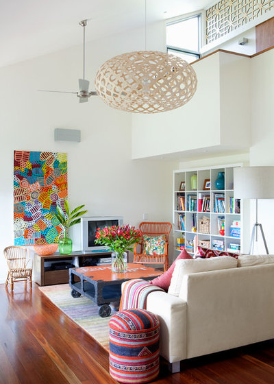 Contemporary Family Room by Sally Carson Interiors