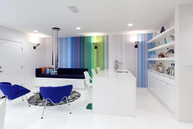 Contemporary Family Room by Popp Littrell Architecture + Interiors