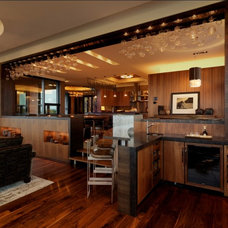 Rustic Family Room by Birdseye Design