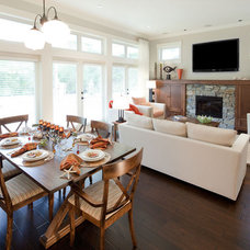 Traditional Family Room by Mid Island Cabinets