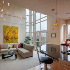 Contemporary Family Room by H. Macke Construction