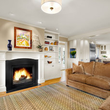 Traditional Family Room by Michael Knowles, Architect
