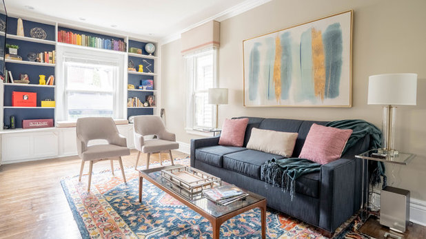 Transitional Family Room by Sornell Design and Development