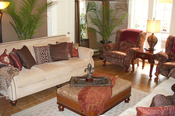 Traditional Family Room by Interiors with Attitude, LLC