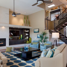 Contemporary Family Room by Kelly Smiar Interior Design