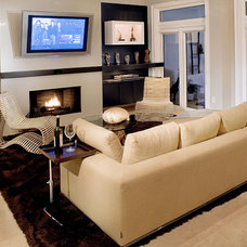 Contemporary Family Room by Ramos Design Build Corporation - Tampa