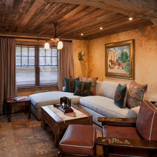 Rustic Family Room by Rachel Mast Design