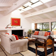 Transitional Family Room Ranch House Renovation