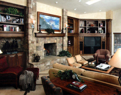 Traditional Family Room by Alpha Design Group