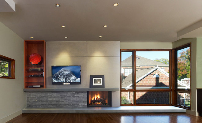 Modern Family Room by Randall Mars Architects