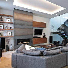 Contemporary Family Room by Olympic Kitchens