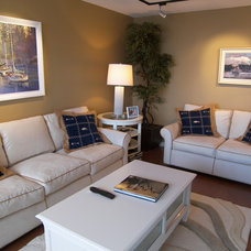 Traditional Family Room by Cynthia Taylor-Luce