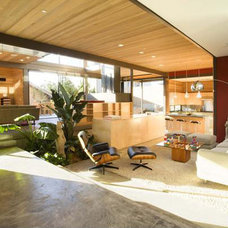 Modern Family Room Ray Kappe House interior
