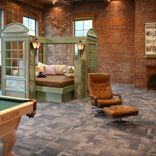 Industrial Family Room by Jen Chu Design