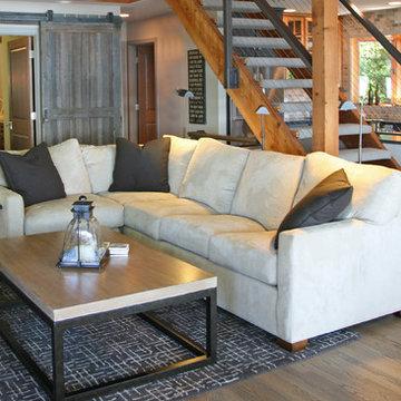 reclaimed modern lakeside home