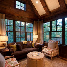 Rustic Family Room by Morgan-Keefe Builders, Inc.