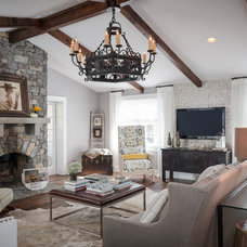 Rustic Family Room by Beckwith Interiors