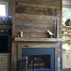 Rustic Family Room by Atlanta Specialty Woods
