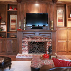 Traditional Family Room by Traci Connell Interiors