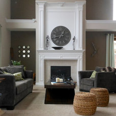 Traditional Family Room by Homes Aglow