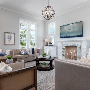 75 Beautiful Family Room With Blue Walls Pictures Ideas December 2020 Houzz