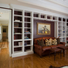 Traditional Family Room by Mark Reuter