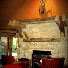 Rustic Family Room by Hopkins Designs