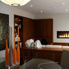 Contemporary Family Room by Regina Sturrock Design Inc.