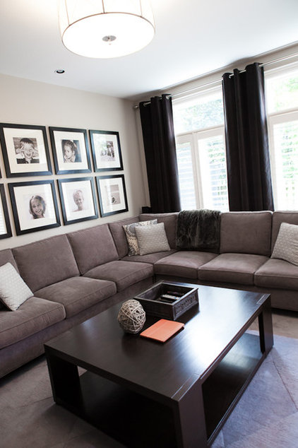 Contemporary Family Room by Pure Bliss Creative Design
