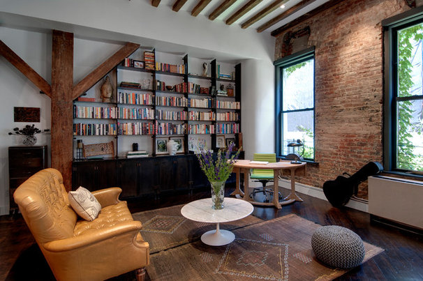 Industrial Family Room by Reiko Feng Shui Design