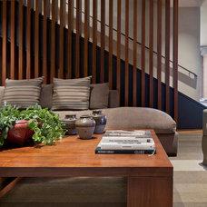 Contemporary Family Room by David J. Wade Inc, Architect