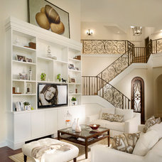 Transitional Family Room by Zelman Style Interiors