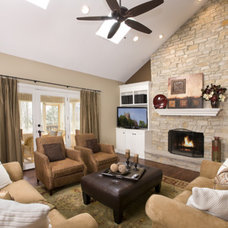 Family Room by Greenside Design Build LLC