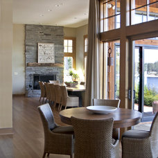 Contemporary Family Room by Nancy Finneson, AKBD, CAPS / DeMane Design