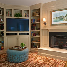 Transitional Family Room by Designline