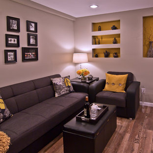 Inspiration for a contemporary family room remodel in New York