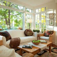 Traditional Family Room by The Landschute Group
