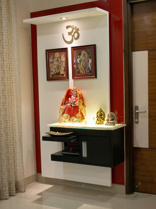Best pooja room design ideas remodel pictures houzz for Home mandir designs marble