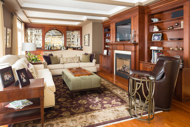 Traditional Family Room by Nicola Interiors