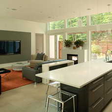 Contemporary Family Room by Colangelo Associates Architects