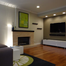 Modern Family Room by AjjC Design