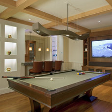 Contemporary Family Room by Randall Whitehead Lighting Solutions