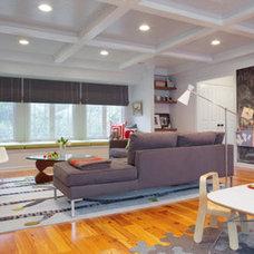 Modern Family Room by Rethink Design Studio