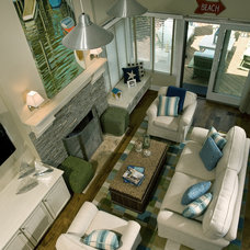 Contemporary Family Room by Fredman Design Group