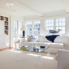 Beach Style Family Room by Patrick Ahearn Architect