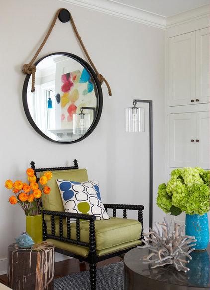 Beach Style Family Room by Rachel Reider Interiors
