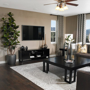 Trendy Family Room Photo In Denver Save Richmond American
