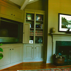Traditional Family Room by Anne White Interiors, LLC
