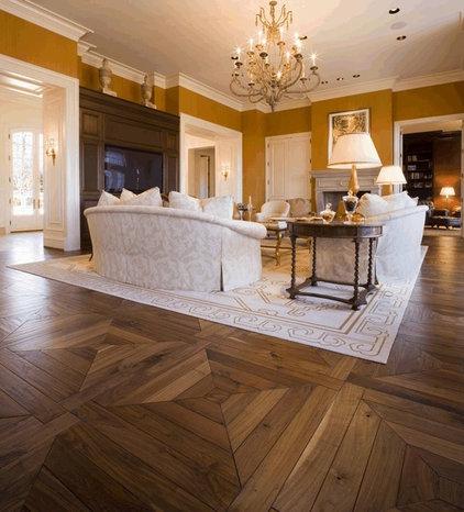 Rustic Family Room by Darmaga Hardwood Flooring